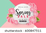 spring sale background layout... | Shutterstock .eps vector #600847511