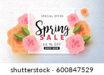 spring sale background layout... | Shutterstock .eps vector #600847529
