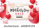 mothers day sale background... | Shutterstock .eps vector #600849194