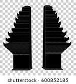 gapura  west java palace gate ...   Shutterstock .eps vector #600852185