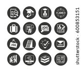 job icon set in circle buttons   Shutterstock .eps vector #600853151