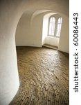 historical spiral hallway,  Round tower in Copenhagen, Denmark - stock photo
