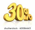 gold thirty percent  isolated...   Shutterstock . vector #60086665
