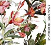 seamless pattern bouquet of... | Shutterstock . vector #600870479