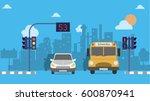traffic light background design | Shutterstock .eps vector #600870941