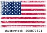 grunge american flag.vector... | Shutterstock .eps vector #600873521