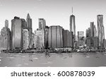 sketch of cityscape in new york ... | Shutterstock .eps vector #600878039