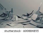 abstract 3d rendering of... | Shutterstock . vector #600884855
