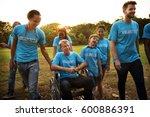 volunteer group of people for... | Shutterstock . vector #600886391