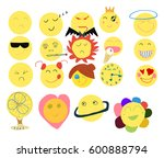 vector illustration set of... | Shutterstock .eps vector #600888794