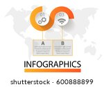 infographics circular vector... | Shutterstock .eps vector #600888899