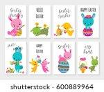 set of easter greeting card for ... | Shutterstock .eps vector #600889964