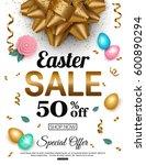 easter sale banner with egg ... | Shutterstock .eps vector #600890294