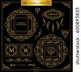 vector boho  ethnic style... | Shutterstock .eps vector #600895835