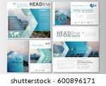 social media posts set.... | Shutterstock .eps vector #600896171