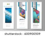 roll up banner stands  flat... | Shutterstock .eps vector #600900509