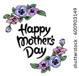 happy mothers day card with... | Shutterstock .eps vector #600903149