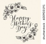happy mothers day card with... | Shutterstock .eps vector #600903191