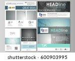 social media posts set....   Shutterstock .eps vector #600903995