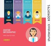 avatar infographic | Shutterstock .eps vector #600909791