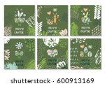 set of creative colorful... | Shutterstock .eps vector #600913169
