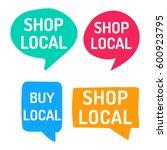shop local. hand drawn speech... | Shutterstock .eps vector #600923795