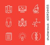 science line icons set ... | Shutterstock .eps vector #600924455