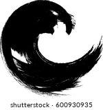 grunge brush circle. abstract...