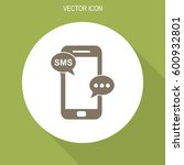 message on mobile phone vector... | Shutterstock .eps vector #600932801