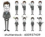 male businessman  set  variation | Shutterstock .eps vector #600937439