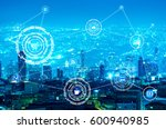 internet of things  iots  over... | Shutterstock . vector #600940985