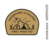 adventure explore badge with... | Shutterstock .eps vector #600944135