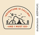 adventure explore badge with... | Shutterstock .eps vector #600944141