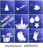 Christmas cards - stock vector