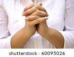 hands positioned as in prayer... | Shutterstock . vector #60095026