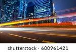 the light trails on the modern... | Shutterstock . vector #600961421