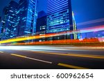 the light trails on the modern... | Shutterstock . vector #600962654