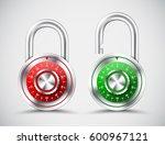 chromed round padlocks ... | Shutterstock .eps vector #600967121