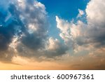 colorful dramatic sky with... | Shutterstock . vector #600967361