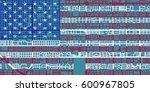 detailed vector map of tucson... | Shutterstock .eps vector #600967805
