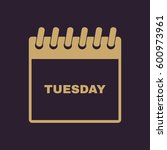 tuesday icon. tue and calendar  ...