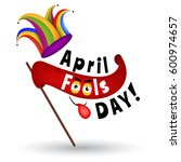 april fools day typography... | Shutterstock . vector #600974657