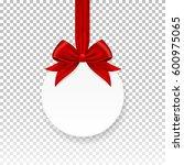vector white round paper... | Shutterstock .eps vector #600975065