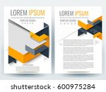 abstract vector modern flyers... | Shutterstock .eps vector #600975284