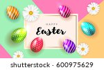 happy easter background... | Shutterstock .eps vector #600975629