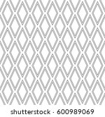 seamless diamonds pattern.... | Shutterstock .eps vector #600989069