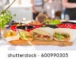 varieties of home made... | Shutterstock . vector #600990305
