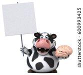 fun cow   3d illustration | Shutterstock . vector #600993425