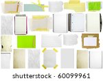 three slices of paper isolated... | Shutterstock . vector #60099961