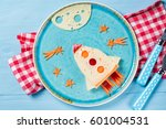 funny sandwich with rocket and...   Shutterstock . vector #601004531